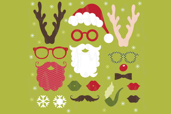 Christmas Photo Booth ClipArt