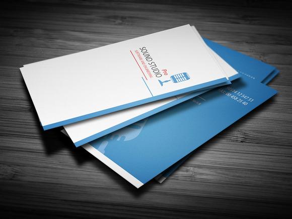 Sound Clean Corporate Busines Card
