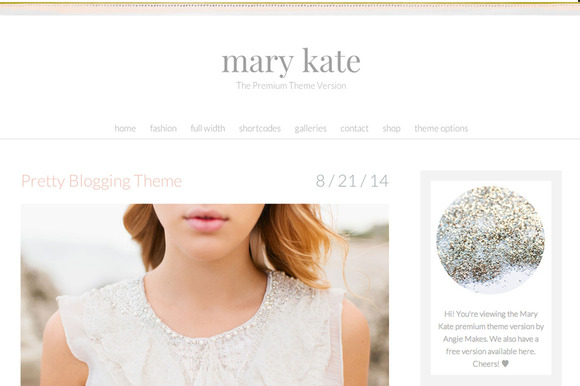 Mary Kate Feminine Wordpress Theme