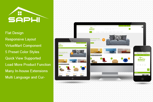 SJ Saphi Furniture Joomla Theme