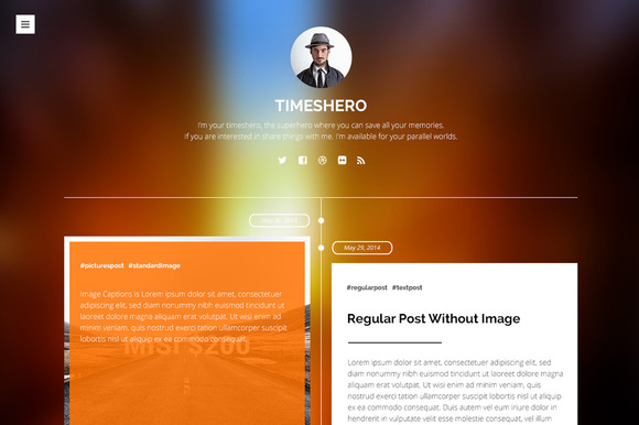 Timeshero PSD Tumblr Template