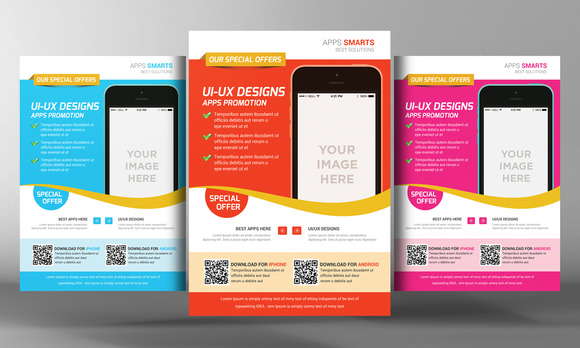 Mobile App Flyer Templates