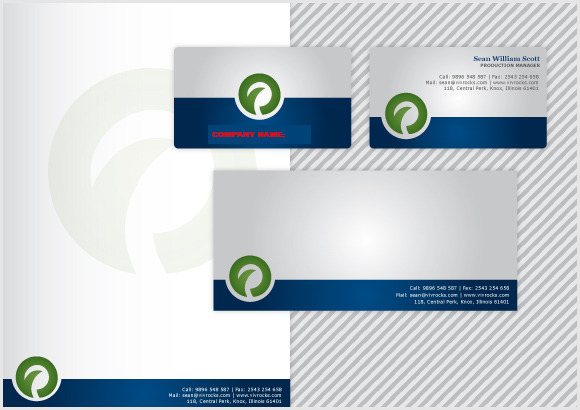 V3 Clean Business Card Stationary
