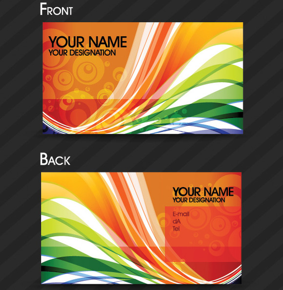 V3 Colorful Abstract Card Vector