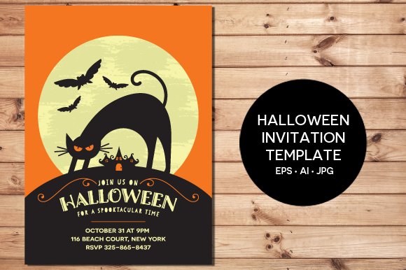 Halloween Invitation EPS JPG