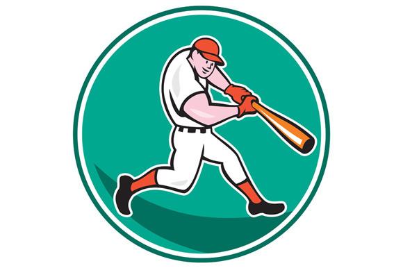 American Baseball Player Batting Car