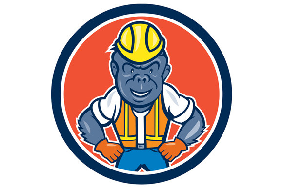 Angry Gorilla Construction Worker Ci