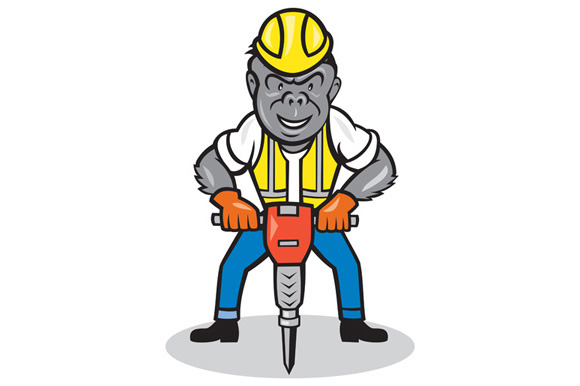 Gorilla Construction Jackhammer Cart