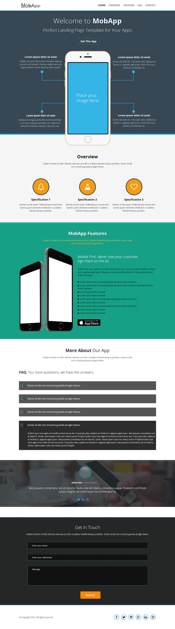 MobApp Creative OnePage Template