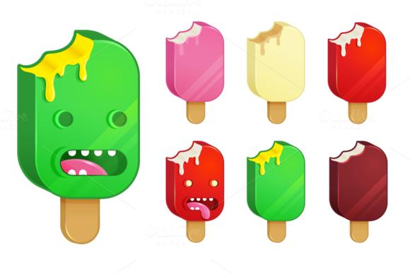 Freaky Ice-Cream Vector Icons