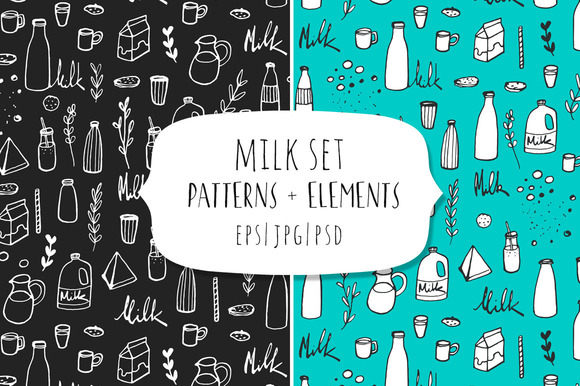 Doodle Milk Set