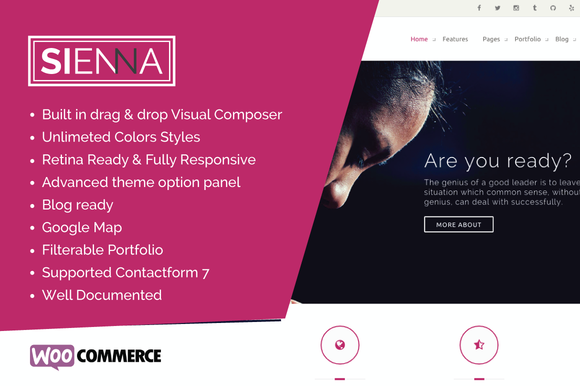 Sienna Multipurpose WP Theme