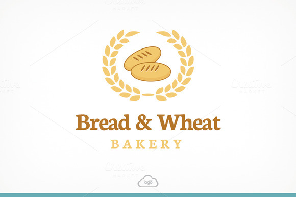 Bread Wheat Logo Template