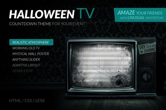 Halloween TV HTML Countdown Theme
