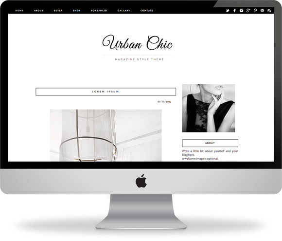 Urban Chic Blogger Template