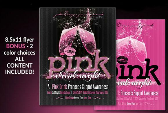 Pink Drink Night Flyer