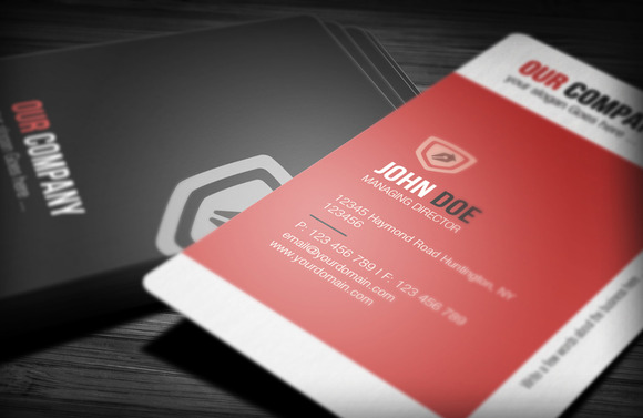 Violet Corporate Business Card