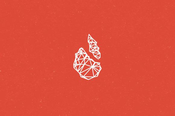 Polygon Flame Logo Template