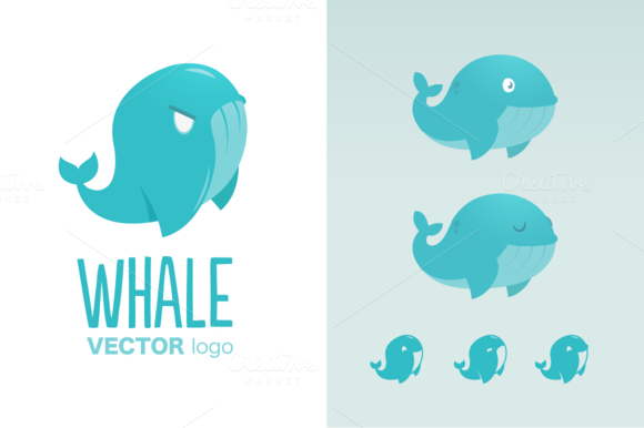 Vector Whale Logo Template