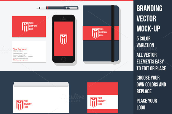 Branding Design Vector Mock-Up