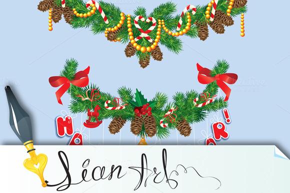 Christmas And New Year Garlannds