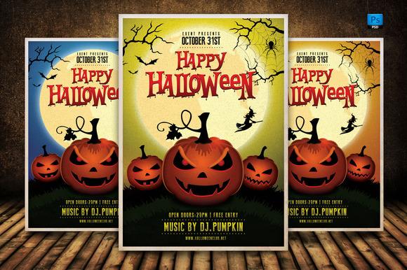 Happy Halloween Flyer Template
