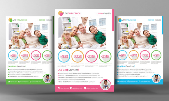 Life Insurance Flyer Template