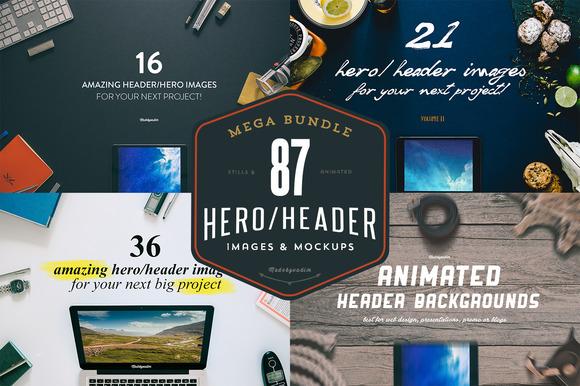 MEGA BUNDLE 87 Hero Header Images