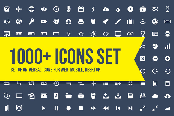 1000 Set Of Universal Vector Icons
