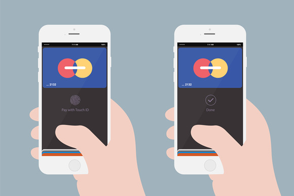 Apple Pay Flat Illustration