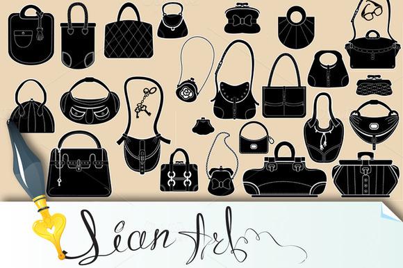 Set Of Woman Bags And Handbags
