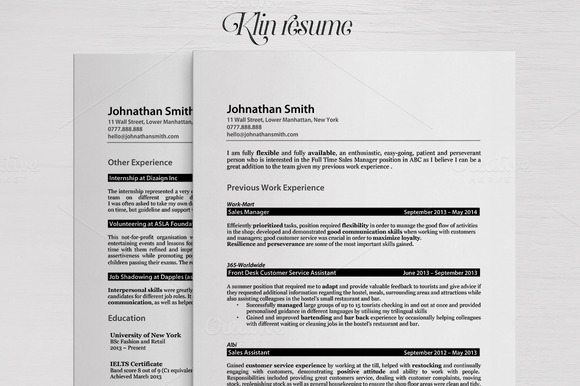 Klin Simple Clean Realistic Resume