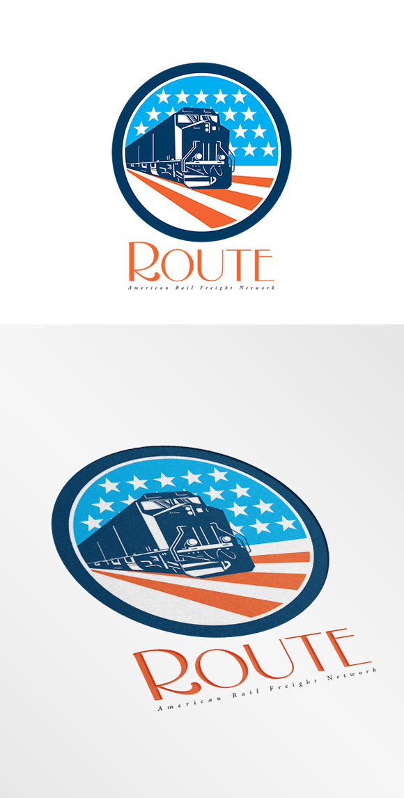 Route American Rail Network Logo