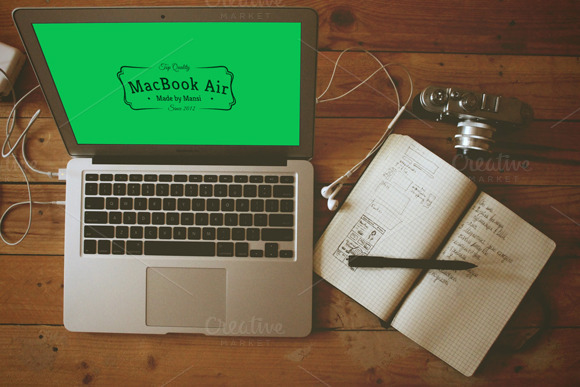 MacBook Air Mockup-4
