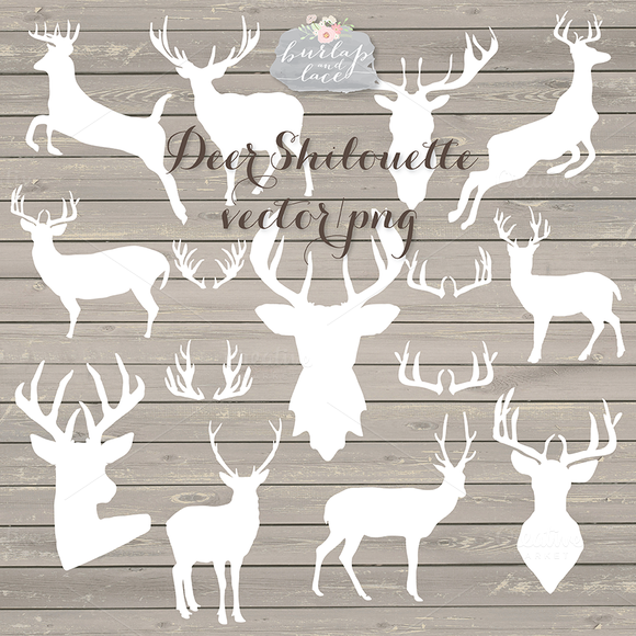 Deer Shilouette Cliparts