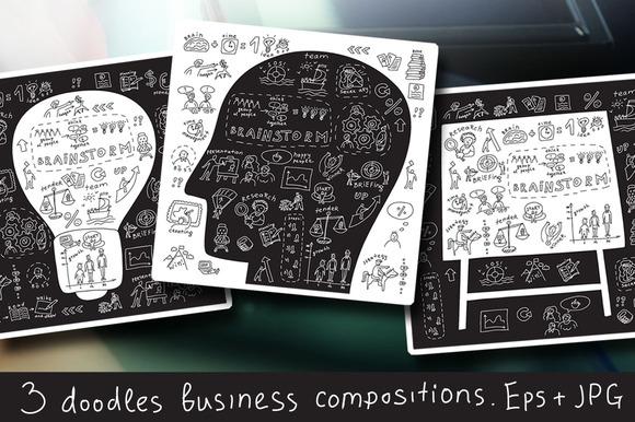 Doodles Business Vector Illustration