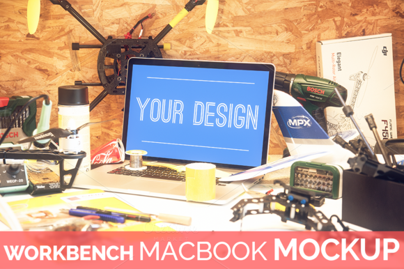 High Res Workbench Macbook Mockup