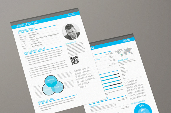 Minimalism Info Graphic Resume