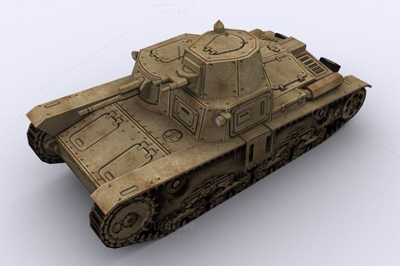 Tank Italian M11-39 3D Model