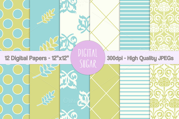 Floral Wedding Digital Papers