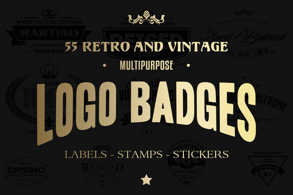 55 Logo Badges Labels And Stamps