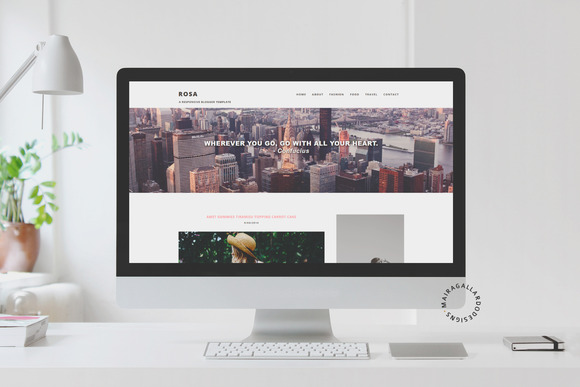 Responsive Blogger Template Rosa