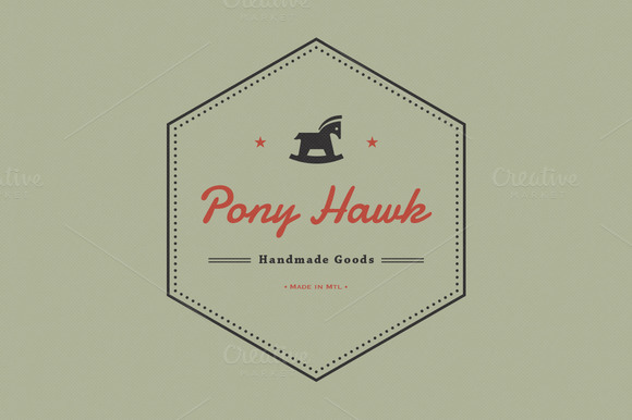 Pony Hawk Logo Icon Pattern Kit