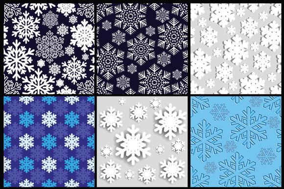 Christmas Background Snowflakes