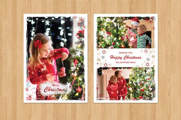 Christmas Card Template-V436