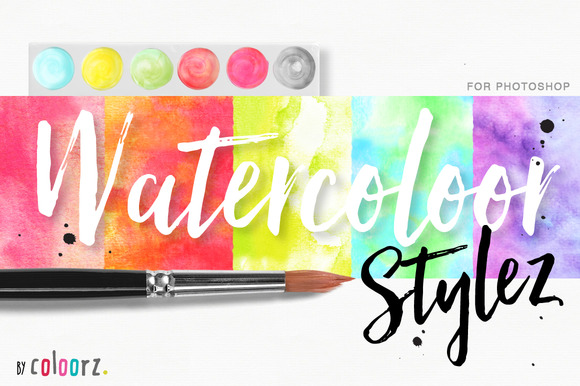 Watercolor Styles 60 Vectors