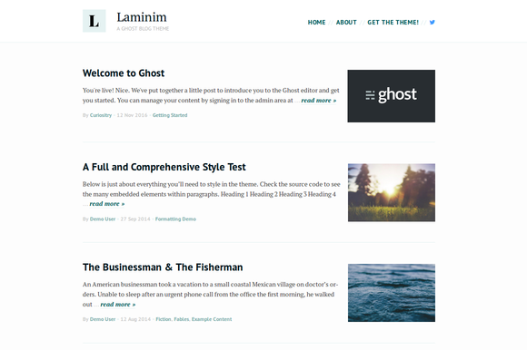 Laminim Ghost Theme For Bloggers