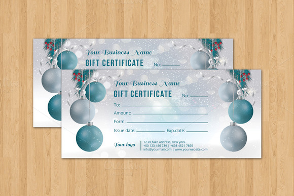 Christmas Gift Certificate-V05
