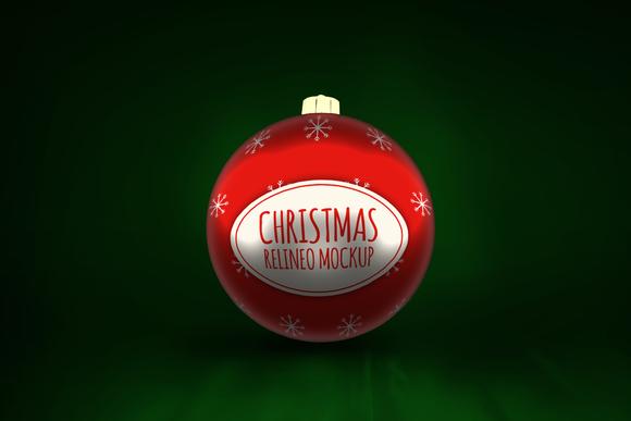 Christmas Ornament Mock-up#2