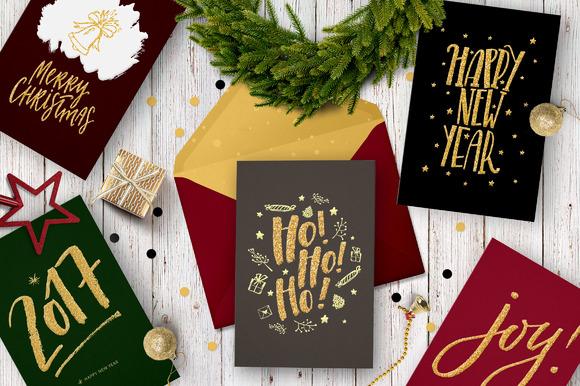Merry Christmas 5 Festive Cards